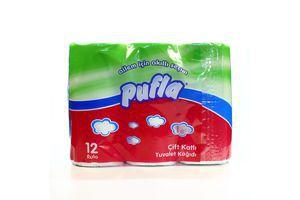 Бумага туалетная 2-х слойная Pufla 12шт