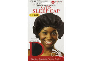 Donna Premium Collection Satin Sleep Cap Black
