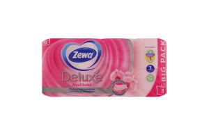Папір туалетний 3 шаровий ароматизований Deluxe Royal Orchid Zewa 8шт