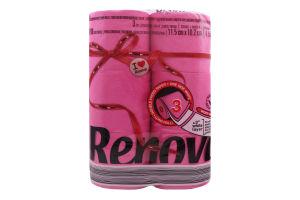Бумага туалетная Renova Red Label макси фуксия