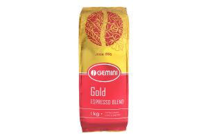 Кофе в зернах натуральный жаренный Gold Espresso Blend Gemini м/у 1кг