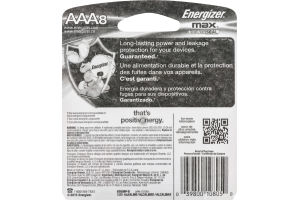 Energizer Max + Powerseal Batteries AAA - 8 CT