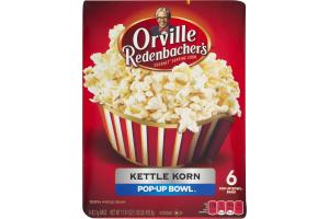 Orville Redenbacher's Gourmet Popping Corn Kettle Korn Pop-Up Bowl - 6 CT