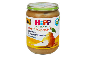 Пюре для детей от 6мес Грушевое пюре с зерновыми хлопьями Hipp Organic с/б 190г