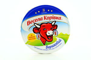 Сыр 43% плавленый порционный сливочный Веселая коровка 120г