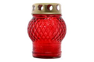 Лампадка зі свічкою в склі 10см №12-02 Куля Оском Плюс 1шт