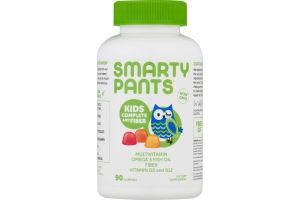 SmartyPants Kids Complete and Fiber Gummy Multivitamin 90 count