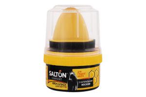 Крем-блеск для обуви из гладкой кожи черный Salton 50мл