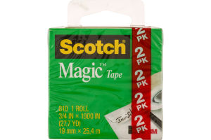 Scotch Magic Tape Roll - 2 CT