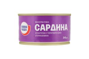 Сардина в томатном соусе Атлантическая Премія ж/б 240г