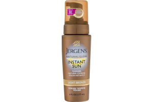 Jergens Natural-Glow Instant Sun Light Bronze Sunless Tanning Mousse