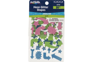 ArtSkills Neon Glitter Shapes - 50 Pieces