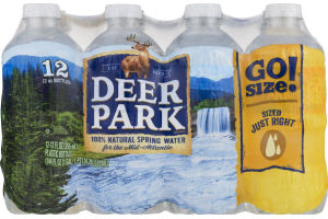Deer Park 100% Natural Spring Water Go Size! - 12 CT