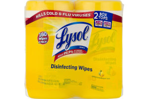 Lysol Disinfecting Wipes Twin Pack Lemon & Lime Blossom