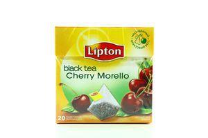 Чай черный Cherry Morello Lipton к/у 20х1.7г