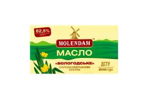 Масло 82.5% сладкосливочное экстра Вологодское Molendam м/у 200г
