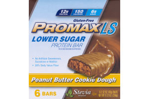 Promax LS Lower Sugar Protein Bar Peanut Butter Cookie Dough - 6 CT