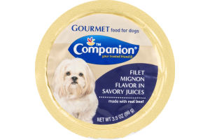 Companion Gourmet Food for Dogs Filet Mignon Flavor