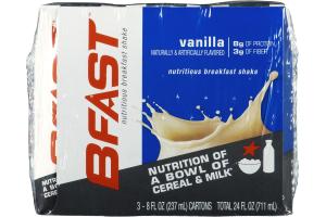 BFAST Nutritious Breakfast Shake Vanilla - 3 CT