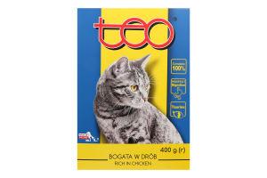 Корм для котов Teo с домашней птицей сухой