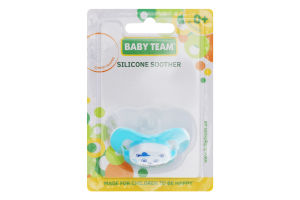 Пустышка силиконовая вышнеобразной формы для детей от рождения №3003 Baby Team 1шт