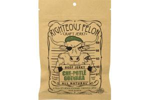 Righteous Felon Craft Beef Jerky Che-Potle Guevara
