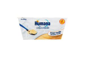 Пудинг манний з ваніллю для дітей від 8міс Humana п/у 4х100г