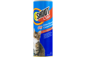 Shout Cats Oxy Odor Eliminating Carpet Powder Carpeting & Upholstery