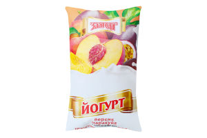Йогурт нежирный Персик-маракуйя Злагода м/у 900г