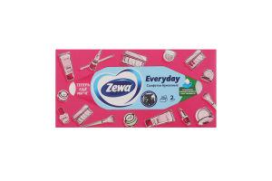 Хусточки паперові 20.8х20см 2-х шарові Everyday Zewa 100шт