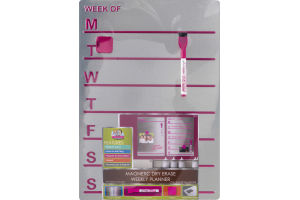 The Board Dudes Magnetic Dry Erase Weekly Planner Pink