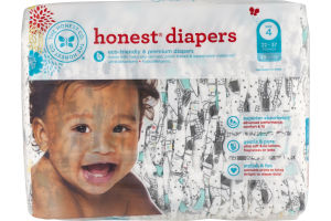 Giraffes The Honest Company Honest Diapers Size 4  22-37 Lbs 29 Ct