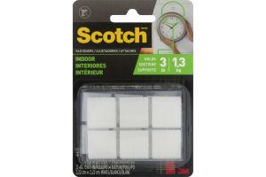 Scotch Fasteners Indoor White - 12 CT