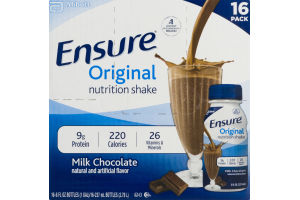 Ensure Original Nutrition Shake Milk Chocolate - 16 CT