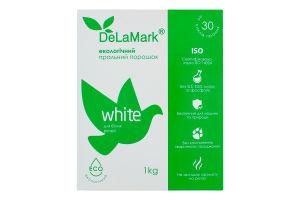 Порошок стиральный концентрированный бесфосфатный White Eco DeLaMark 1кг
