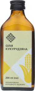 Олія кукурудзяна Лавка традицій холодного віджиму нерафінована, 200 мл