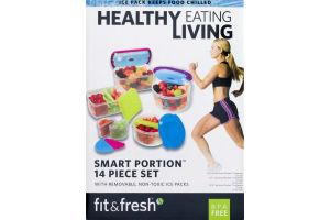 Fit & Fresh Healthy Eating Living Smart Portion 14 Piece Set