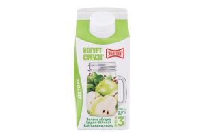 Йогурт-cмузи 2% зеленое яблоко-груша-шпинат-клетчатка лена Злагода к/у 280г