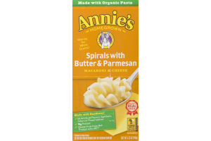 Annie's Homegrown Macaroni & Cheese Spirals With Butter & Parmesan