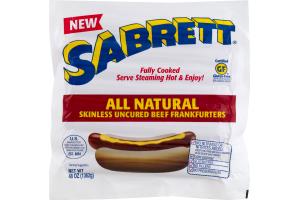 Sabrett All Natural Skinless Uncured Beef Frankfurters