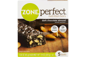 Zone Perfect Nutrition Bars Dark Chocolate Almond - 5 CT