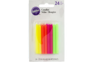 Wilton Candles 2.5 IN High Celebration Hot Colors - 24 CT