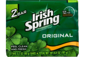 Irish Springs Deodorant Soap Original - 2 CT