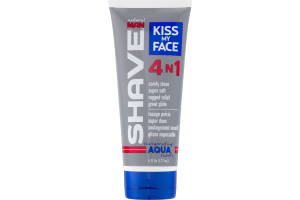 Kiss My Face Natural Man Shave 4 N 1 Aqua