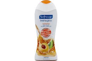 Softsoap Fresh & Glow Exfoliating Body Wash Orange & Kiwi