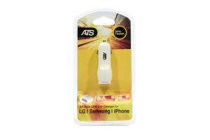 Устройство зарядное автомобильное Dual USB 2.1A DL300 ATS 1шт