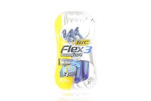 Станок для бритья мужской одноразовый Flex 3 Comfort BIC 3шт