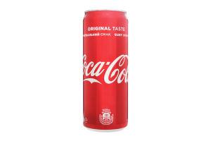 Напиток безалкогольный с/газ Coca-Cola ж/б 0.33л
