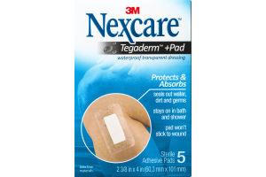 3M Nexcare Tegaderm + Pad Waterproof Transparent Adhesive Pads - 5 CT