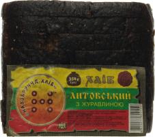Хлеб Надзбруччя хліб Литовский с клюквой резаный